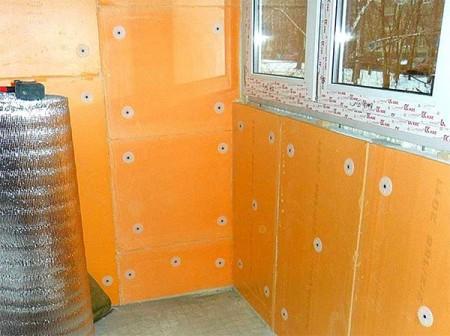 Пример балкона утепленного пеноплексом