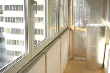 Пример утепление балкона изнутри