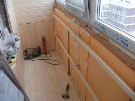 Отделка балкона пеноплексом