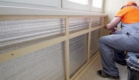 Процесс утепления балкона изнутри