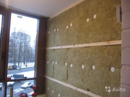 Отделка стен минеральной ватой