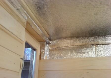 Обшивка потолка изнутри пароизоляционной пленкой