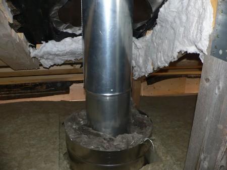 Обработка дымоходной трубы