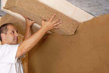 Утепление плитами минваты потолка