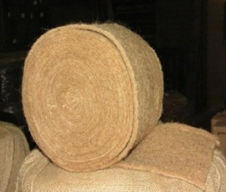Войлочный джут отличной подходит для утепления бани