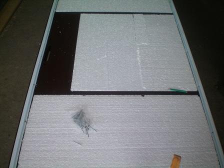 Утепление дверного полотная пенопластом