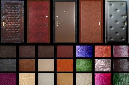 Утепленные металлические двери с красивой обивкой