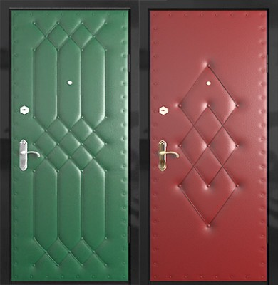Варианты обшивки дверей после утепления
