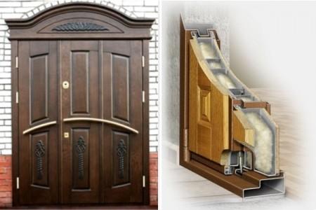 Утепленные деревянные двери
