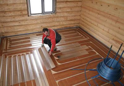 Монтаж теплого пола под деревянное покрытие