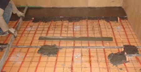 Монтаж под бетонную стяжку