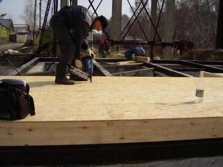 Закрепление СИП-панелей на фундамент