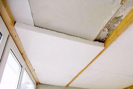 Теплоизоляция потолка балкона пеноплексом