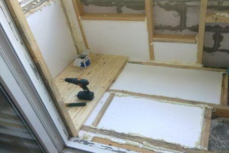 Теплоизоляция пола балкона пеноплексом