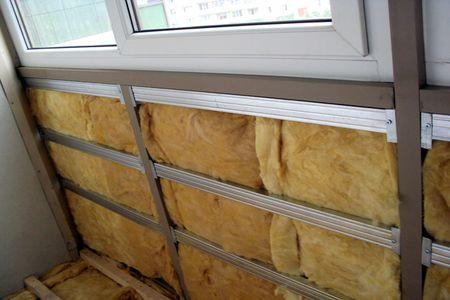 Утепленный балкон стекловатой