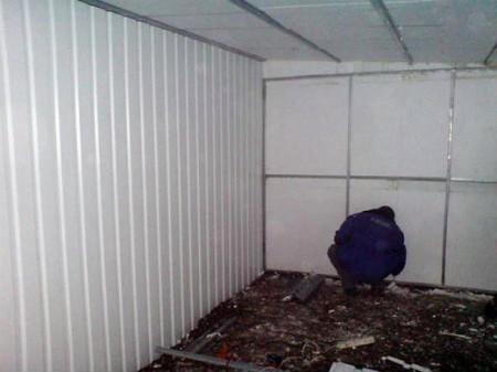 Обшивка стен гаража
