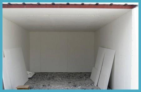 Обшитые стены и потолок