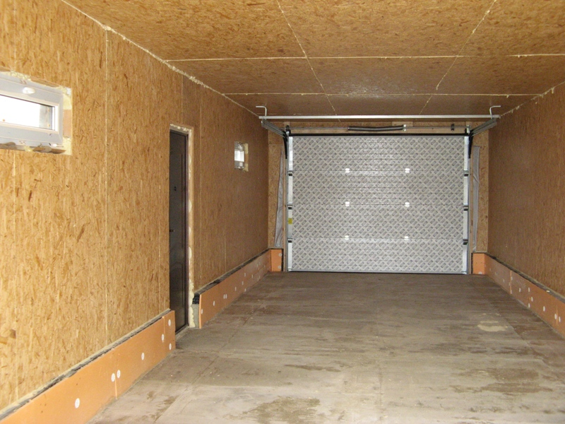 Железный гараж как утеплить пол купил детали для гаража