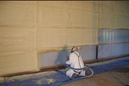 Утепление гаража полимерной пенообразной субстанцией