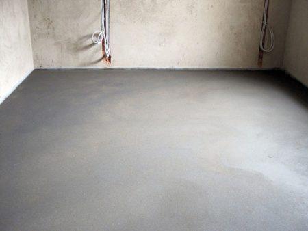 Утепление пола материалами на основе бетона